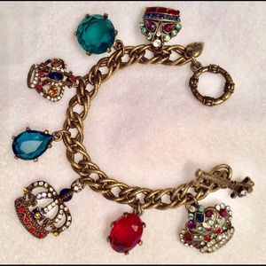 Jubilee Crowns Sweet Romance Charm Bracelet
